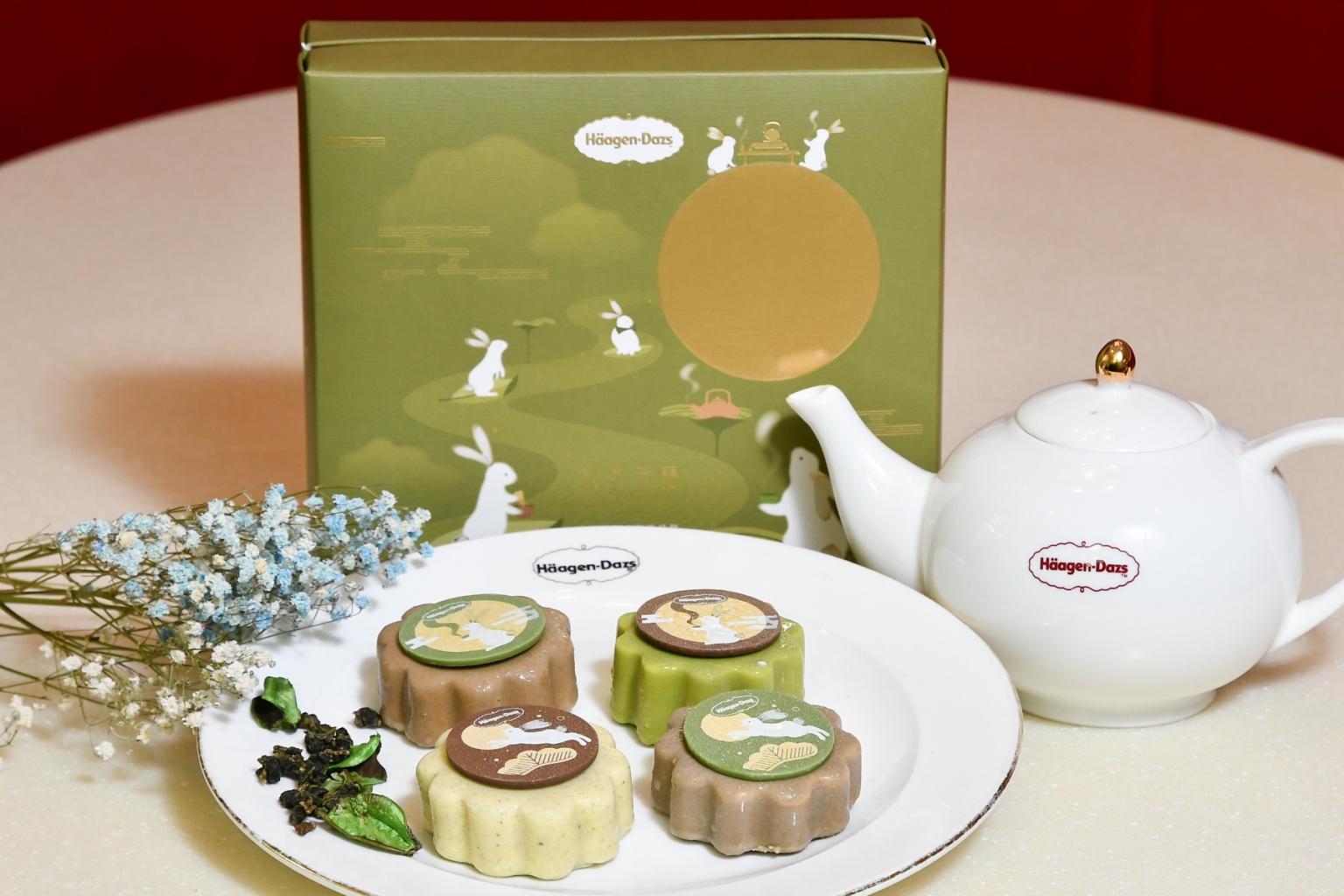 「秋月茶韻」為häagen Dazs結合消費者飲食喜好趨勢推出的創新禮盒,門市詢問度爆表,展現超高人氣!