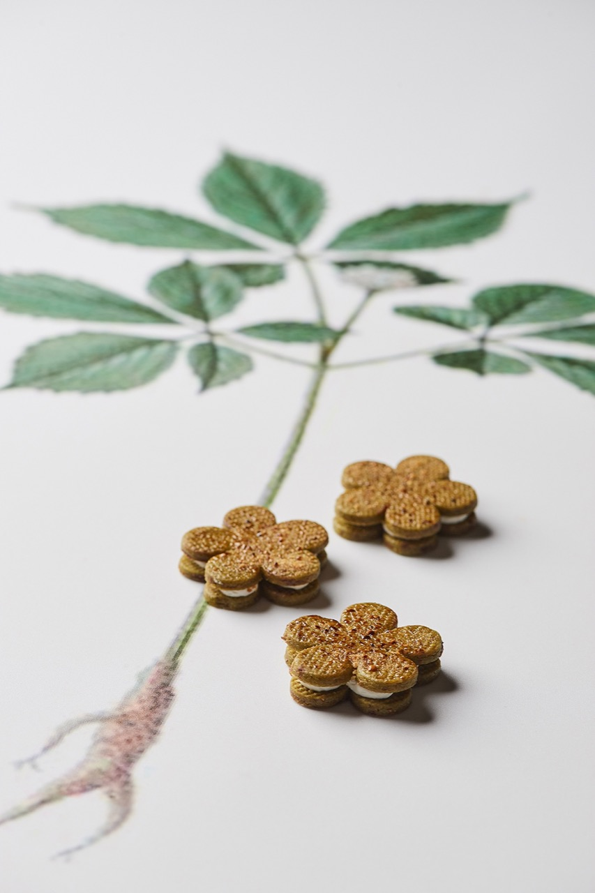 台北美福・正官庄 聯名推出「蔘紅」下午茶 高麗蔘奶霜餅乾