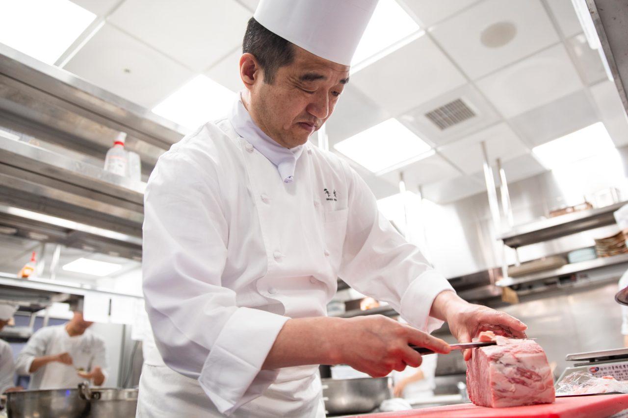 台北美福大飯店 佐賀和牛宴記者會 下山總料理長 前置作業