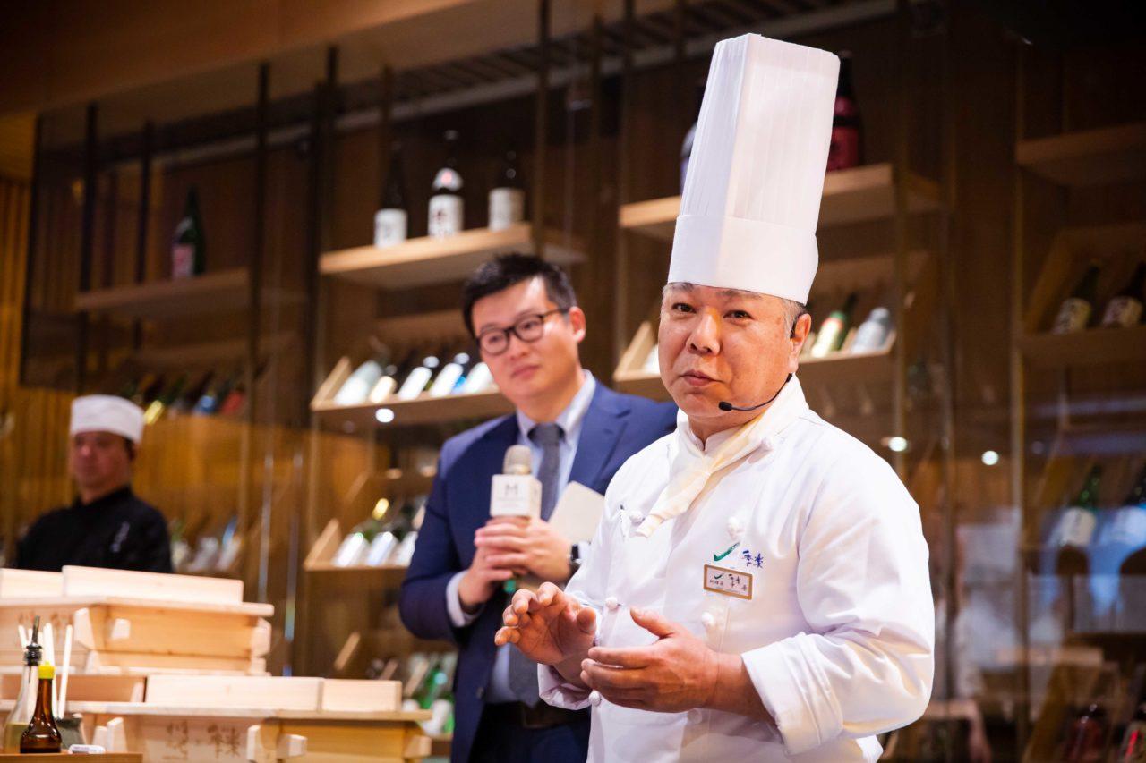台北美福大飯店 佐賀和牛宴記者會 中原寬視料理長蒸籠料理示範