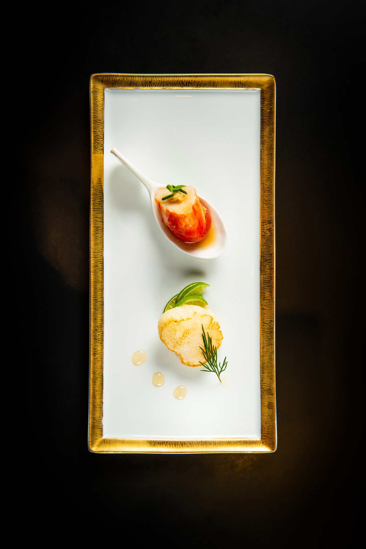 圖說3 青檸煎帶子及鱈場蟹小鮮茄