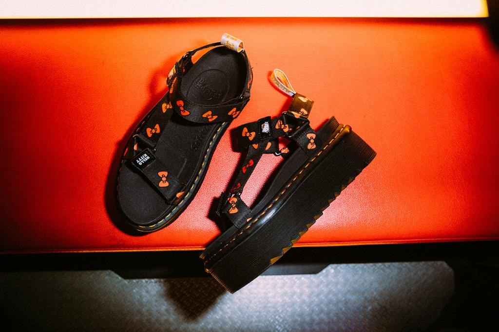 春夏必備的涼鞋款式dr. Martens X Hello Kitty
