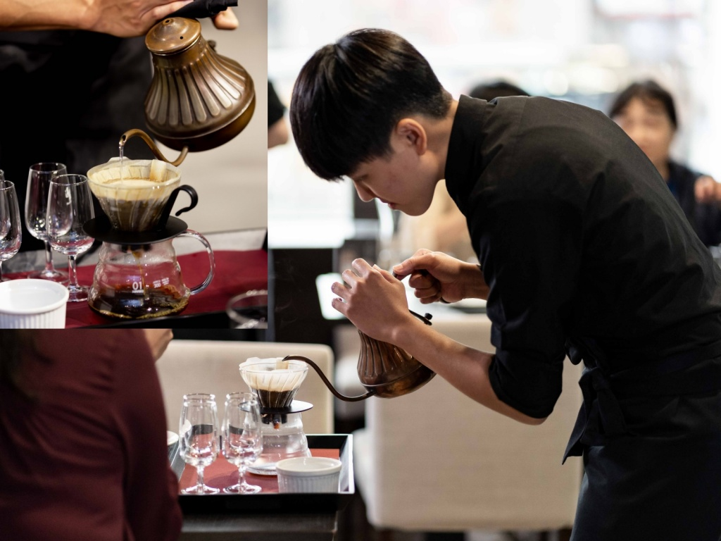 湛盧咖啡師現場展演手沖咖啡技術