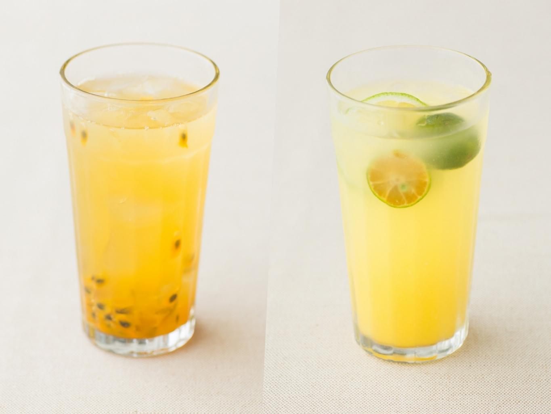 百香果桂花烏龍茶凍飲&金桔檸檬蜂蜜氣泡飲