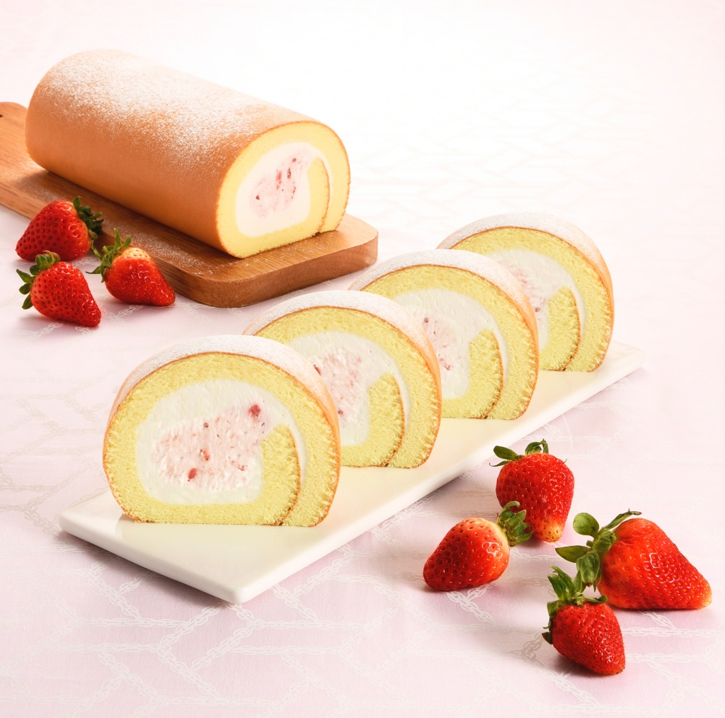草莓雙漩生乳捲
