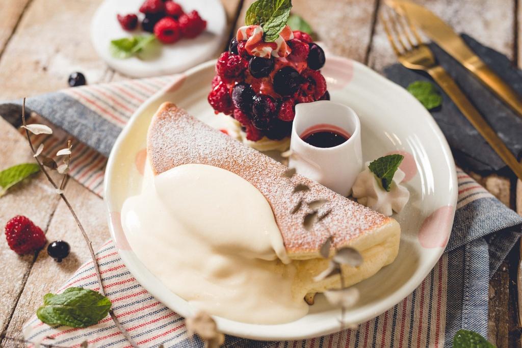 莓果塔冰淇淋鬆餅
