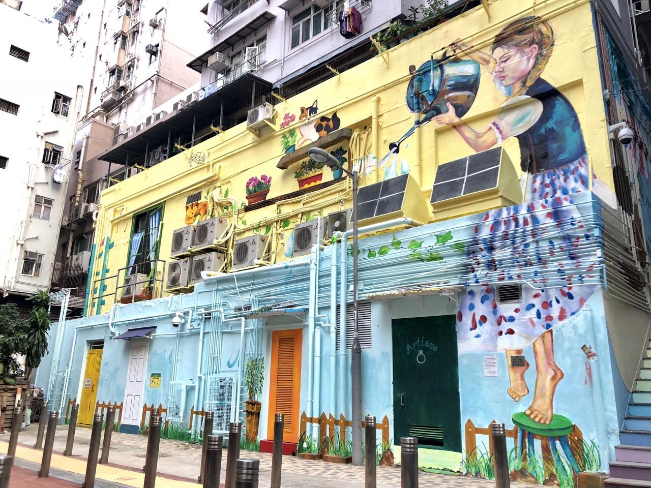 西營盤藝里坊塗鴉繽紛了城市,為繁忙生活帶來驚喜