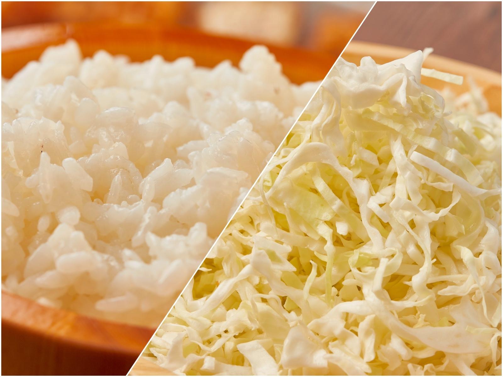 越光米&高麗菜絲