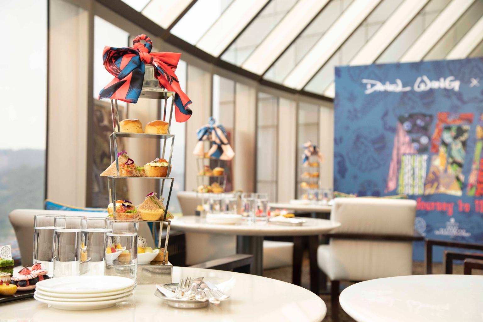香格里拉台北遠東國際大飯店馬可波羅酒廊期間限定 《啟程journey To 100 Prints》聯名下午茶