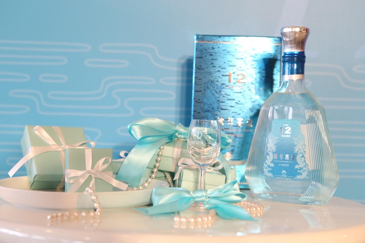 12年陳年金門高粱酒包裝設計概念,以「平步青雲」、「青雲龍」、「十二年」為設計主軸。(照片提供:金門酒廠)