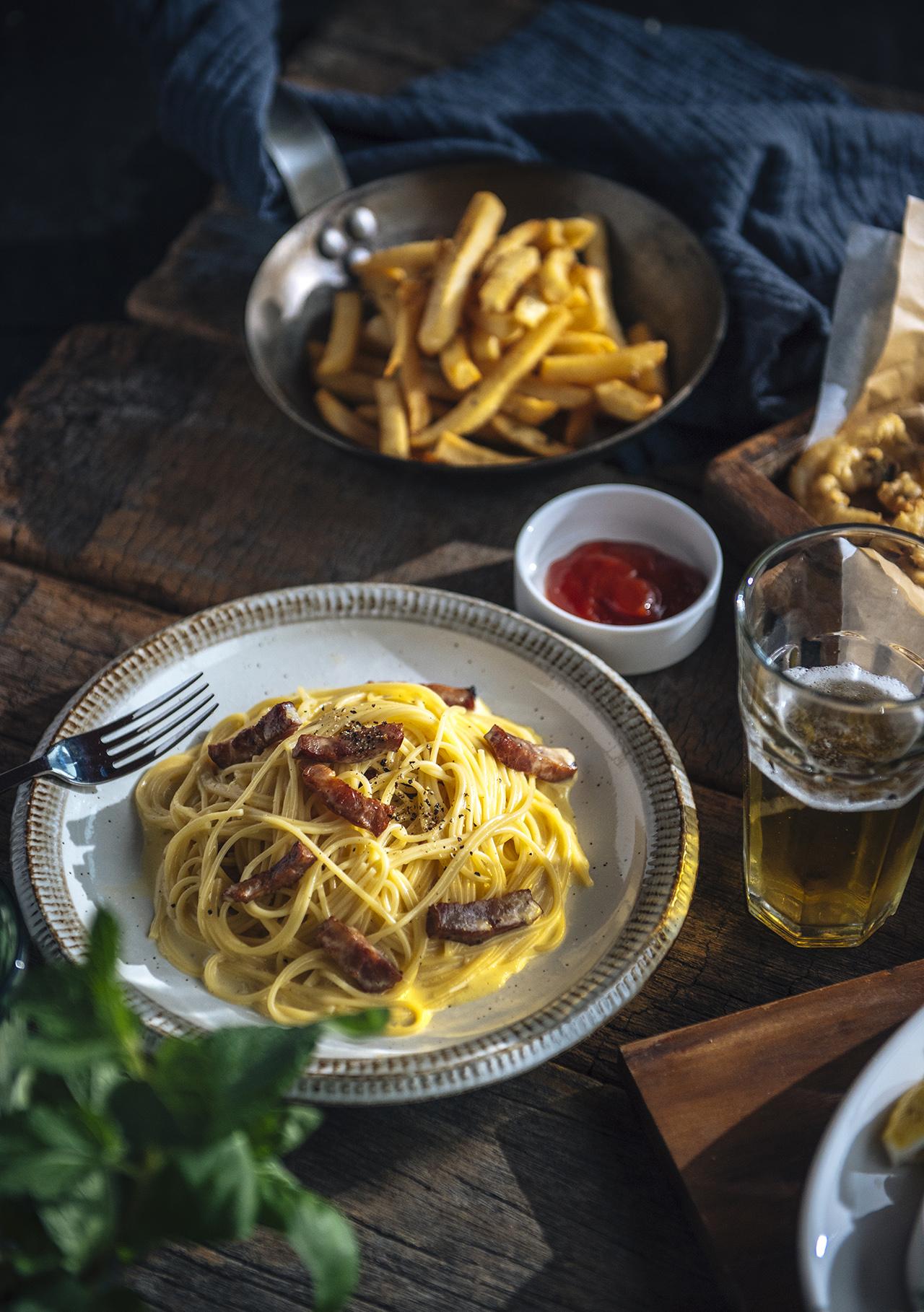 Bellini Pasta Pasta 炭燒職人風奶油蛋黃培根麵