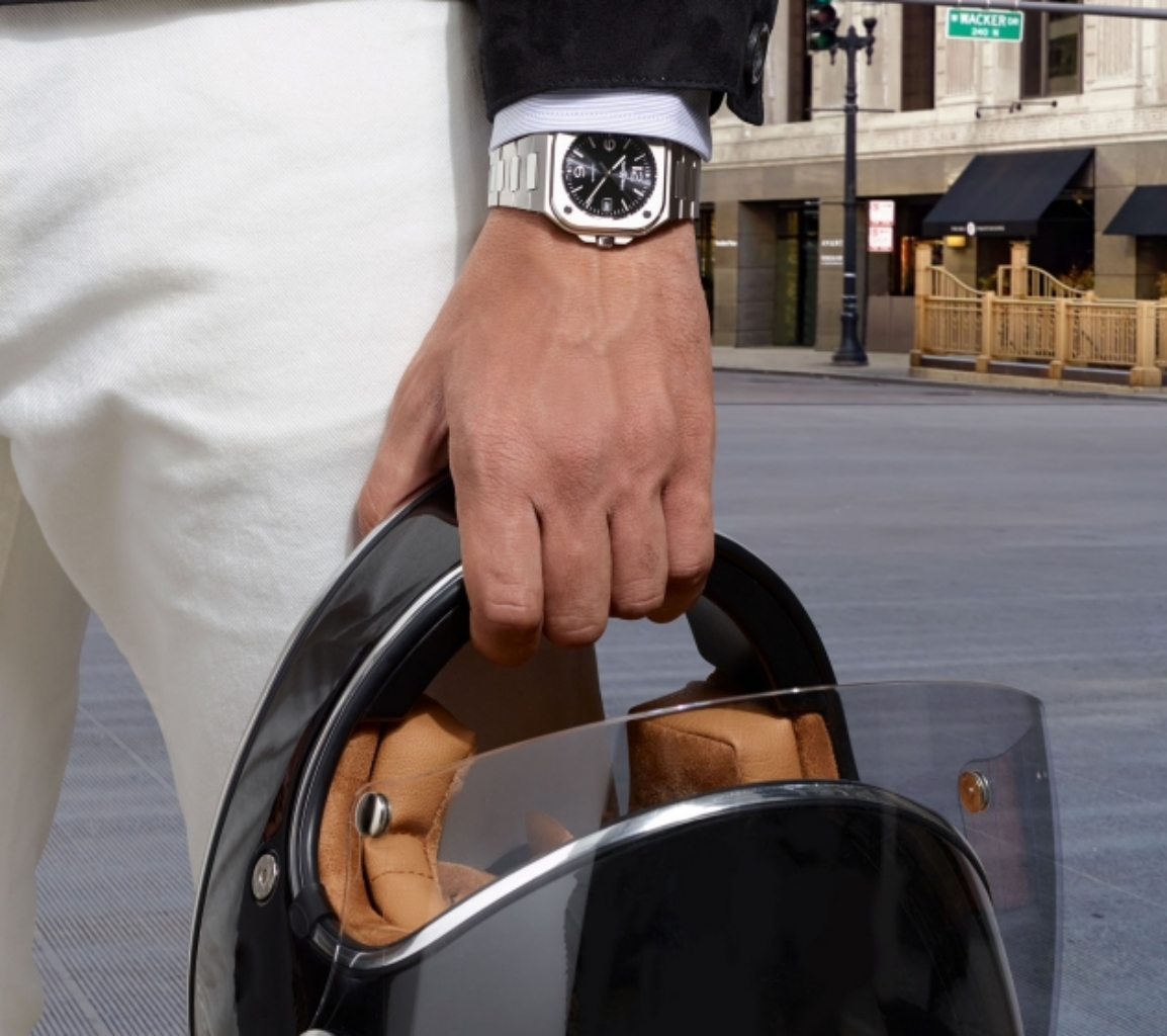 Br05 Steel Black不鏽鋼錶款深黑色