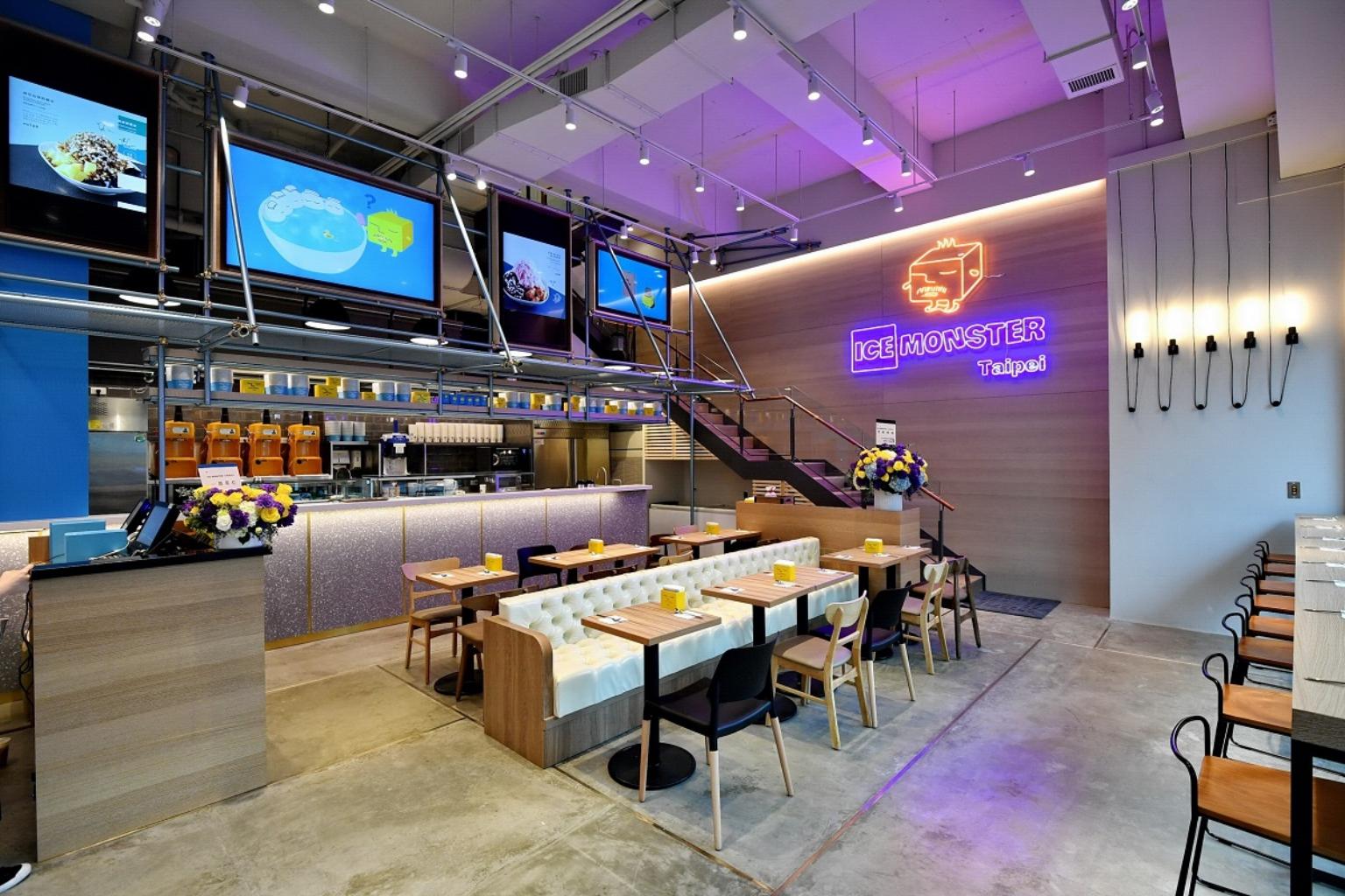 Ice Monster永康創始店擁有明亮的簡約設計與逗趣擺飾,打造令人會心一笑的舒適空間