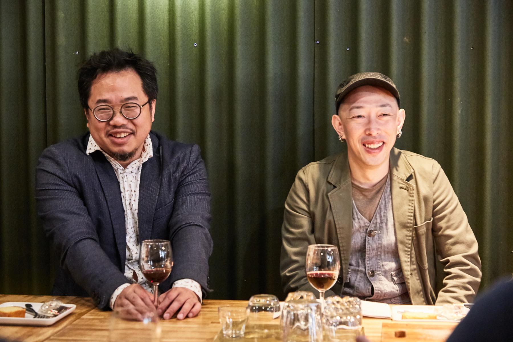 左為台灣燈會策展人蘇民,右為《潮人物》專欄作家時髦宅男