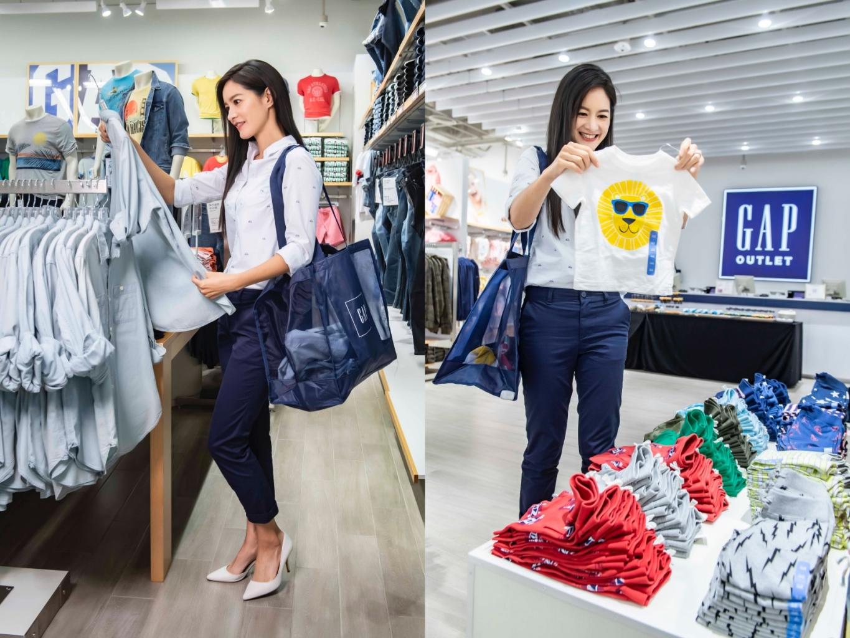 Janet搶先體驗gap Outlet全新店裝,為全家大小添購新衣