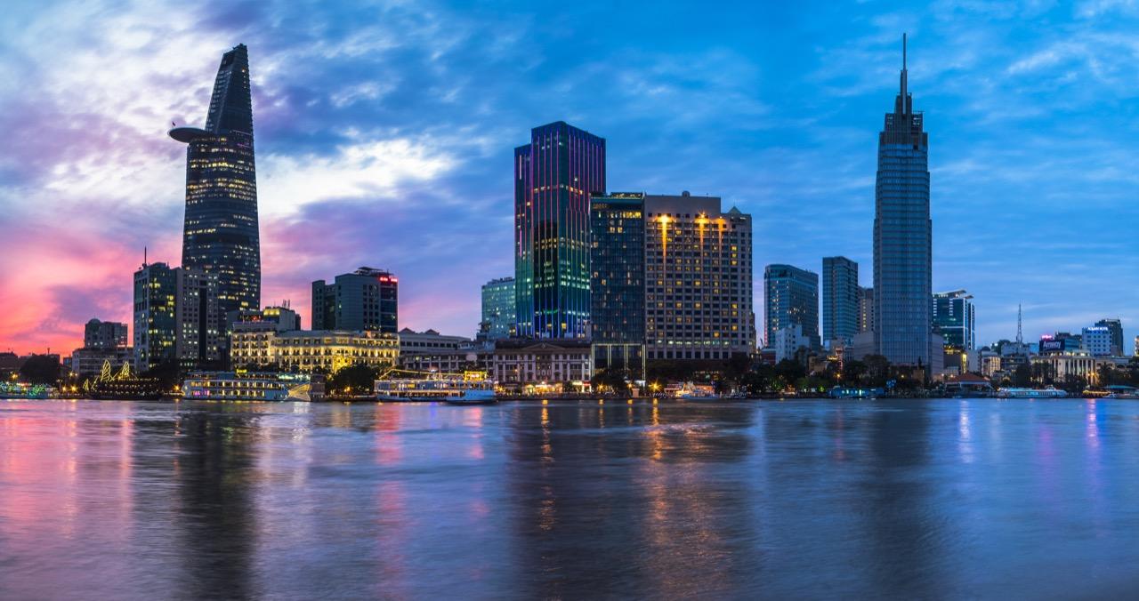The Reverie Saigon Exterior At Sunset